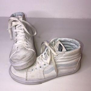 Vans Sk8-Hi Sneakers In White Sz 6.5